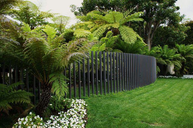 Beverly Hills modern fence