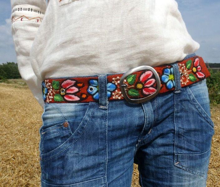 Taillengürtel - 107cm Gürtel OKTOBERFEST Tracht Stickerei - ein Designerstück von santa-fee bei DaWanda