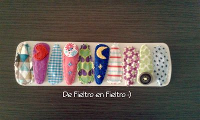 De Fieltro en Fieltro: PINZAS DE PELO