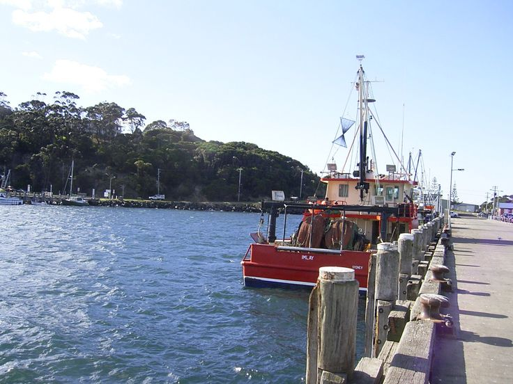 Eden Wharf NSW Australia where people come to watch the whales.