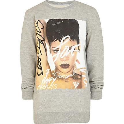 Boys grey Rhianna album print t-shirt £14.00