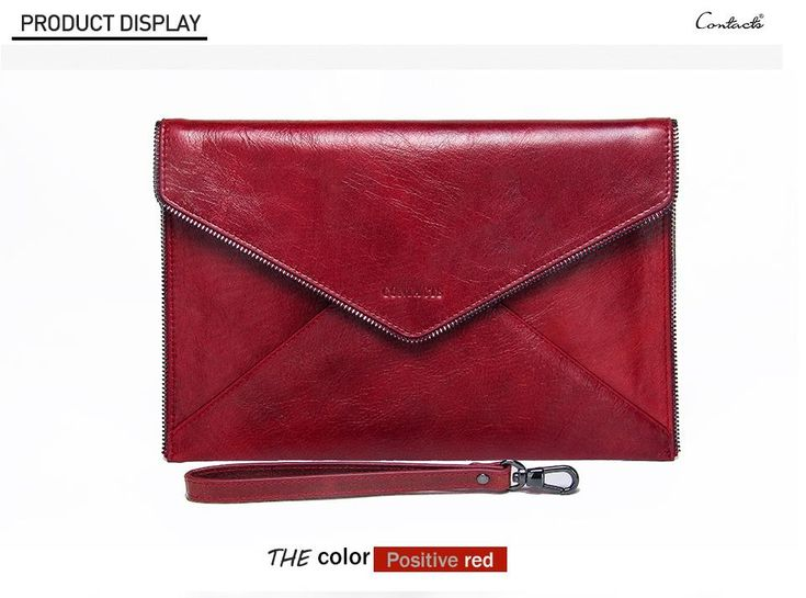 Retro Genuine Leather Clutch Bag(item 4)