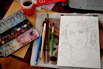 Watercolor work in progress #onemorerednaima #sketch