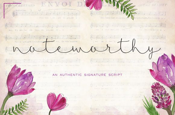 Noteworthy Script by Sweet Type on Creative Market