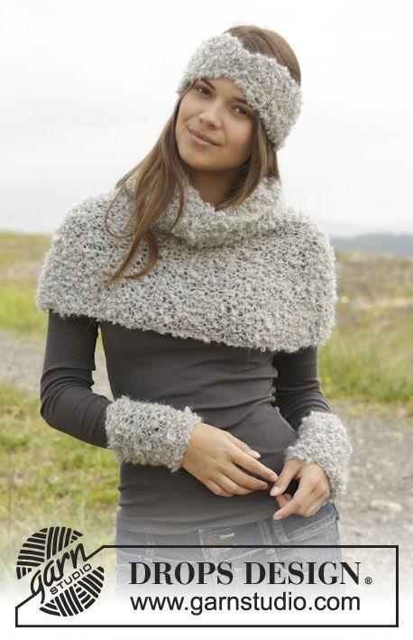 Gebreide hoofdband, halswarmer en polswarmers