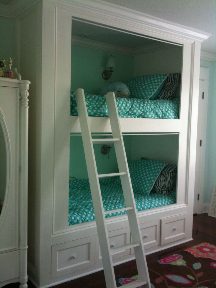 Love these built in bunk beds.