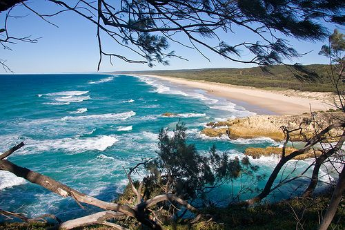 Stradbroke Island: Just off the coast of Moreton Bay is gleaming Stradbroke Island. Accessible by public transit, but much easier to traverse with a vehicle, it's a turquoise-blue example of life in the south pacific. 10 mins to the Ferry and over we go.  Great to live so close.