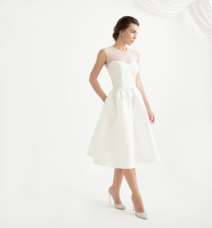 Searching for a knee-length wedding dress? This one is cute and affordable.