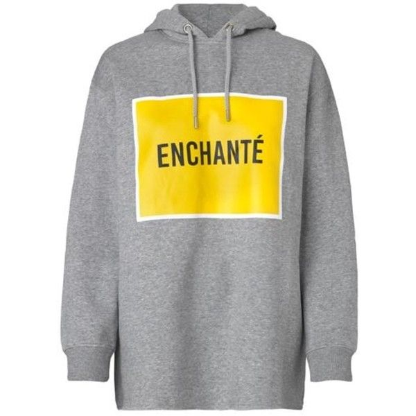 Weekend Enchante Sweatshirt (€80) ❤ liked on Polyvore featuring tops, hoodies, sweatshirts, long sleeve sweatshirts, graphic hoodies, long sleeve hoodie, cotton sweatshirts and fleece lined hoodies