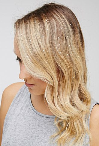 Charmsies Iridescent Rhinestones Hair Charms   Forever 21   #f21accessorize