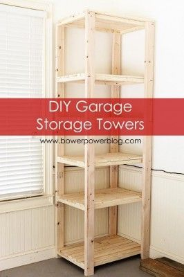 "How To Build Garage Storage Towers Shelves Homesteading  - The Homestead Survival .Com     ""Please Share This Pin"""