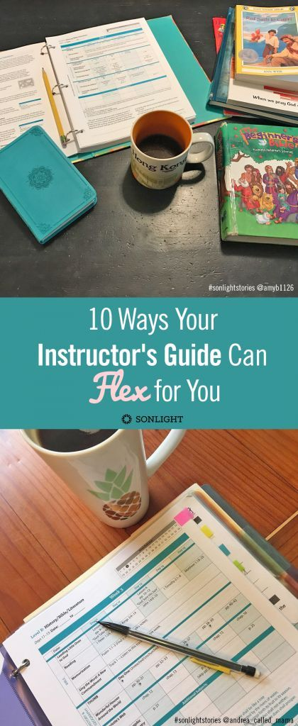10 Ways Your Instructor's Guide Can Flex for Your Homeschool • homeschool planning and scheduling