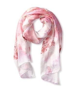 75% OFF Tahari Women's Floral Mountain Print Scarf, Pink