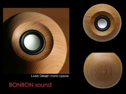 Bon Bon Sound Round Wooden Speaker from Japan