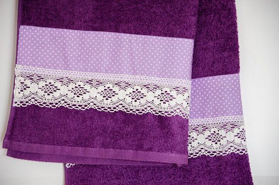 Decorative Bath Towel Lavender