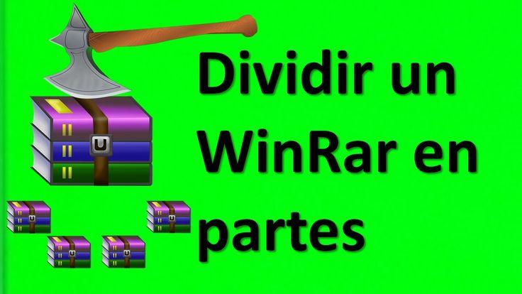 Como dividir un archivo RAR en partes 2016
