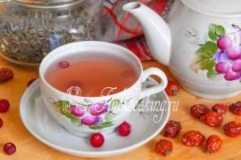 Чайный напиток с шиповником
