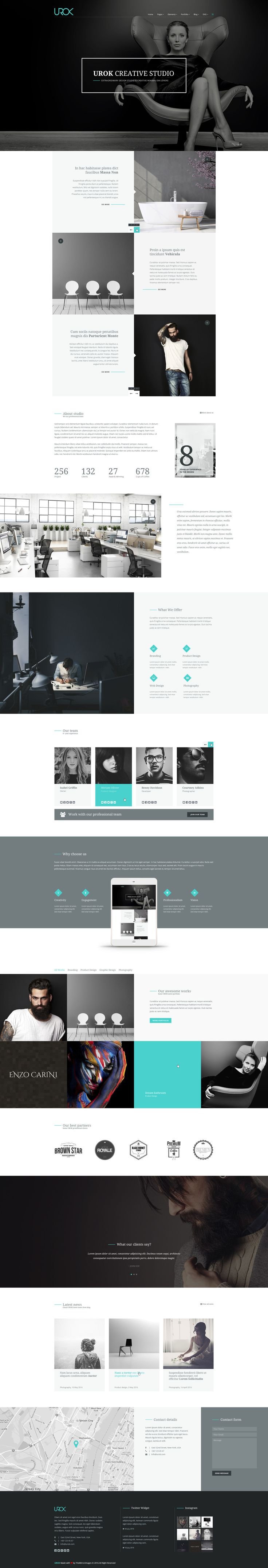 UROK - Creative Multipurpose PSD Template by TheMirrorImages | ThemeForest