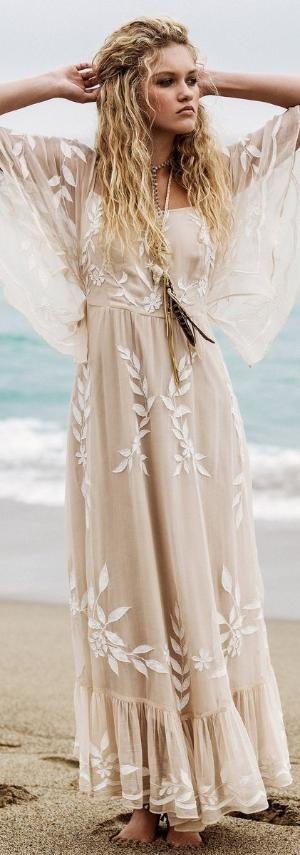Free People Enchanted Forest Boho Maxi Dress