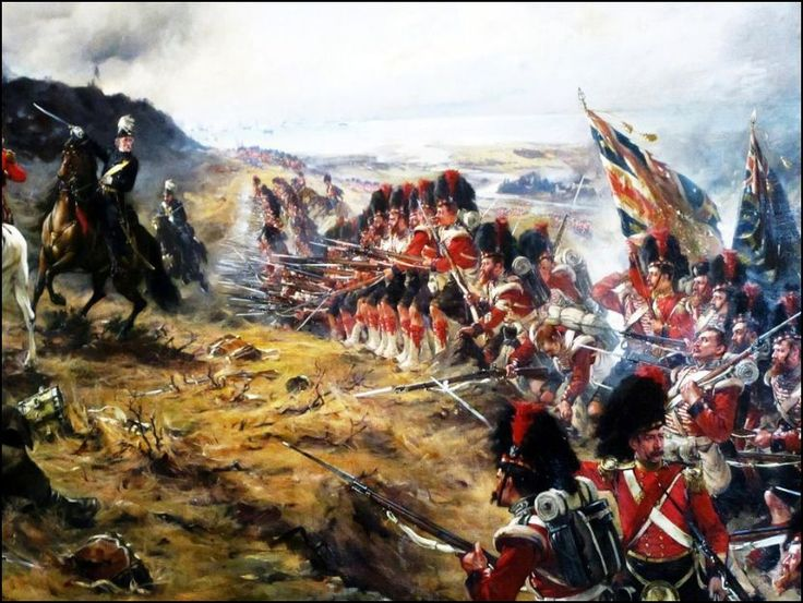 """Forward the 42nd"" by Robert Gibb. The Black Watch advance up the slopes of the hills overlooking the River Alma, defeating the Russian defenders."