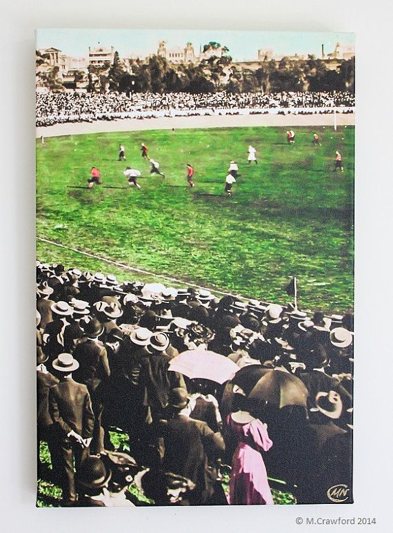 Canvas Print  Football Match Port Adelaide vs by CVPublications, $85.00
