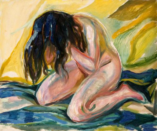 Edvard Munch (1863-1944), Weeping Nude, 1919.                                                                                                                                                                                 More