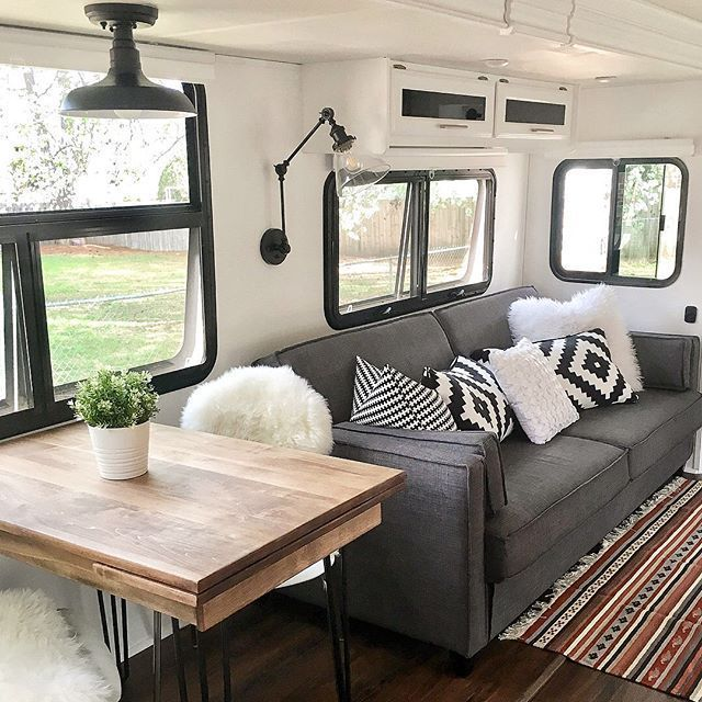 My Own Rv Layout Is Similar To This One So Im Getting A Lot Of Personal Inspiration From These Photos By Mrselliluu Rv Living Remodeled Campers Camper Makeover