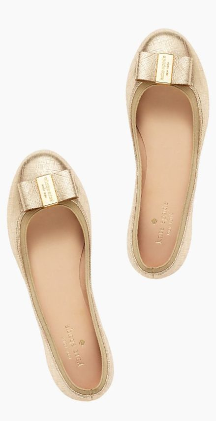 Golden bow flats by kate spade new york