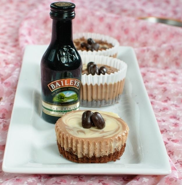 Bailey's Cheesecake Cupcakes   26 Boozy Desserts To Get You Tipsy On St. Patrick's Day