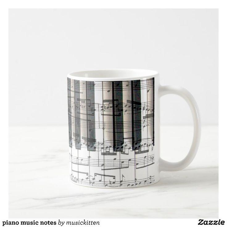 piano music notes coffee mug
