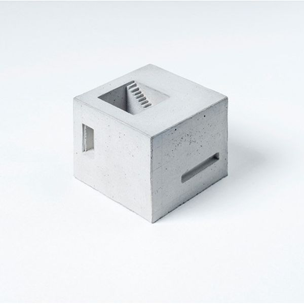 miniature concrete building blocks ~ material immaterial studio