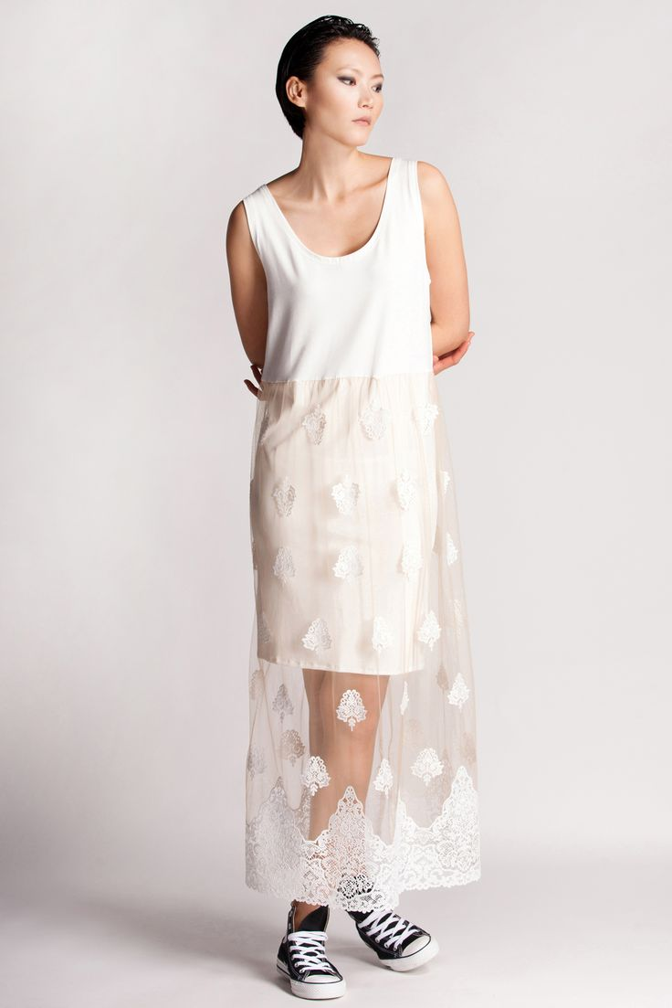 Rien's long lace dress can be worn for multiple activities and occasions, providing a blank canvas for accessories to instantly transform the ensemble.