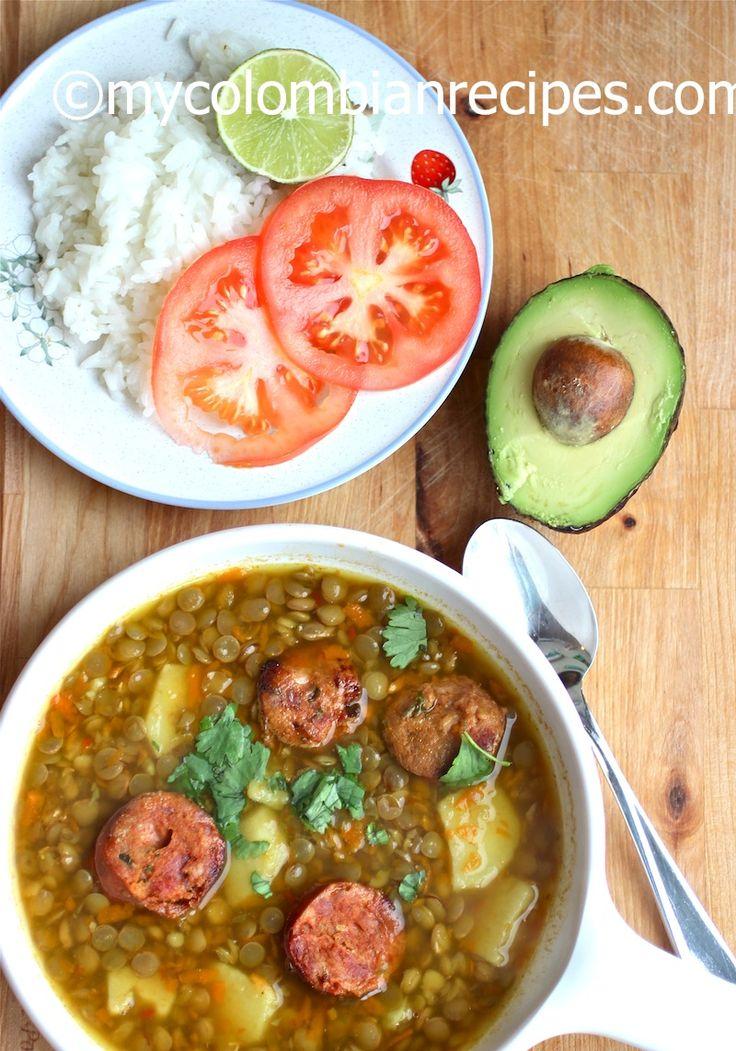 Sopa de Lentejas (Colombian-Style Lentil soup)