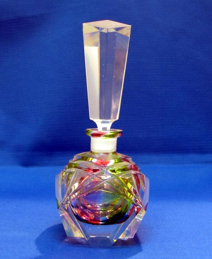 Czech Vintage Rainbow Rock Crystal Perfume Bottle Ebay Perfume Bottles Perfume Perfume