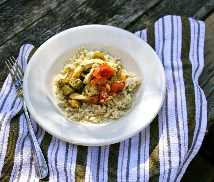 Slow Cooker Chicken Okra Stew- simplelivingeating.com