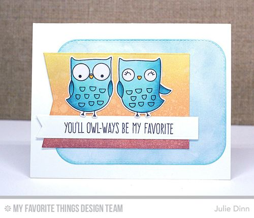 I'm Owl Yours Stamp Set and Die-namics, Stitched Rounded Rectangle STAX Die-namics, Fishtail Flags STAX Die-namics - Julie Dinn  #mftstamps