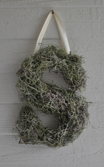 Spring Wreath... I actually love this idea! It would even be fun to create a wreath with our initial as the whole form rather than a round form, but still cover it in all sorts of awesome things like I would a round one!