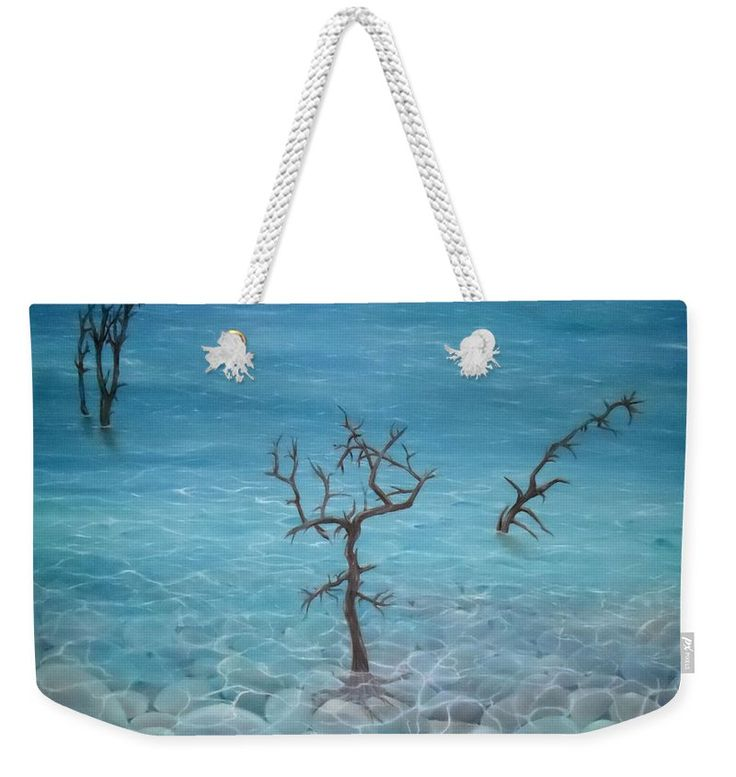 Weekender Tote Bag,  blue,cool,beautiful,fancy,unique,trendy,artistic,awesome,fahionable,unusual,accessories,for,sale,design,items,products,gifts,presents,ideas,coastal,nature,sea,trees