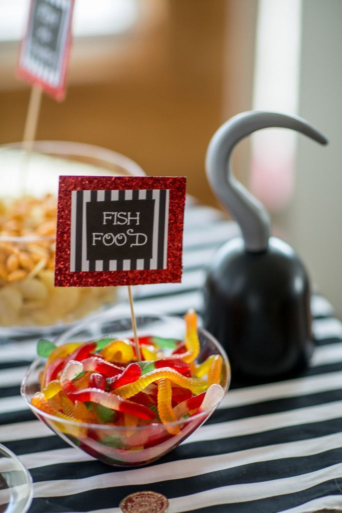Pirate Party Food Ideas Fish food snake lollies kids birthday