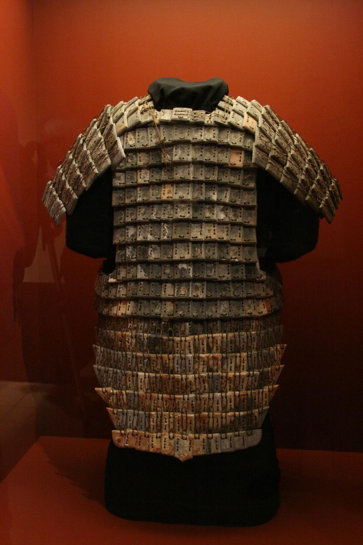 Chinese Scale Armor Stone armour excavated from