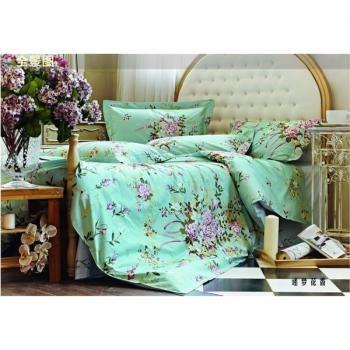 Tiffany Blue 250TC Fresh 4PCS Queen Size Bedding Sets