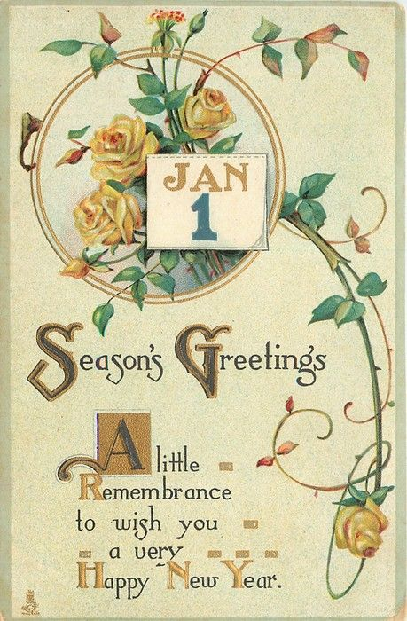 26 best NEW YEARS images on Pinterest | Vintage cards, Vintage ...