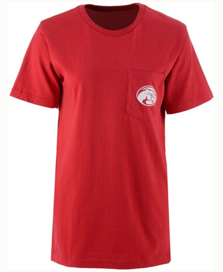 Royce Apparel Inc Women's Houston Cougars Buffalo Plaid Big T-Shirt