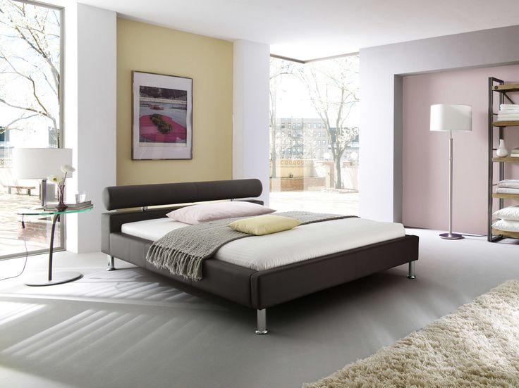 Ajoutez une touche moderne à votre chambre à coucher à l'aide du lit Anello 160x200cm brun
