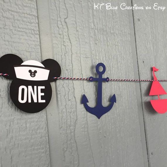 Mickey Mouse Sailor Garland 10 feet Mickey by ktbluecreations