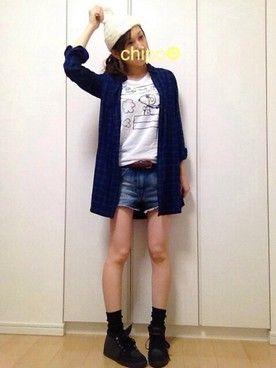 chipo☻│earth music&ecologyのTシャツ・カットソーコーディネート