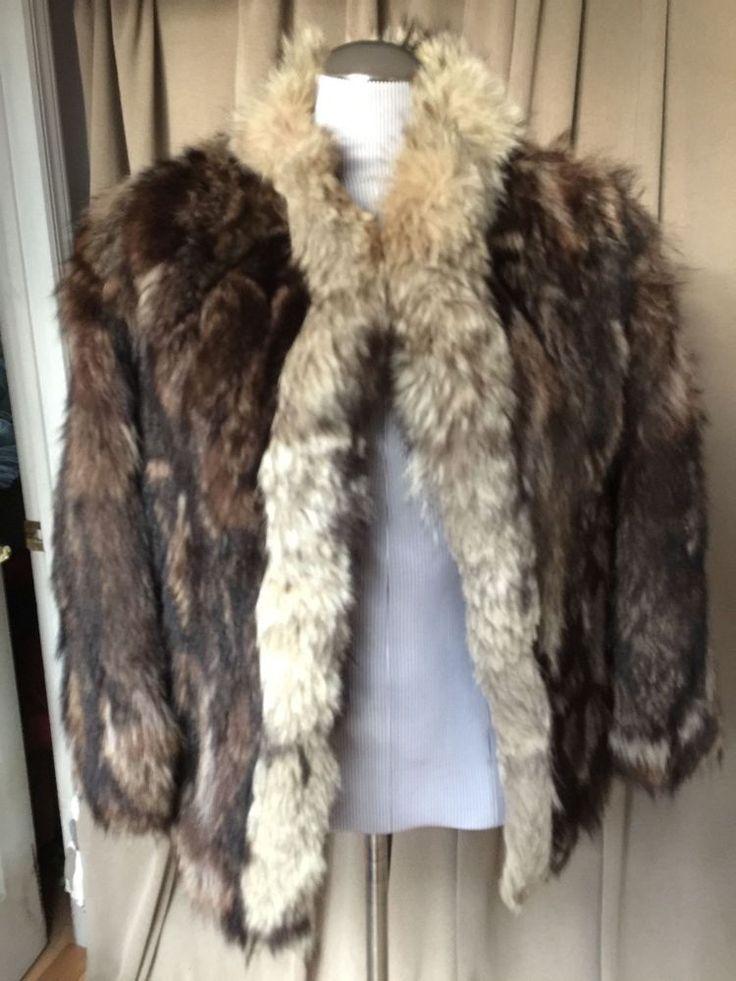 vintage raccoon fur heavy short coat S  #vintageraccoonfur #shortlcoat #versatile