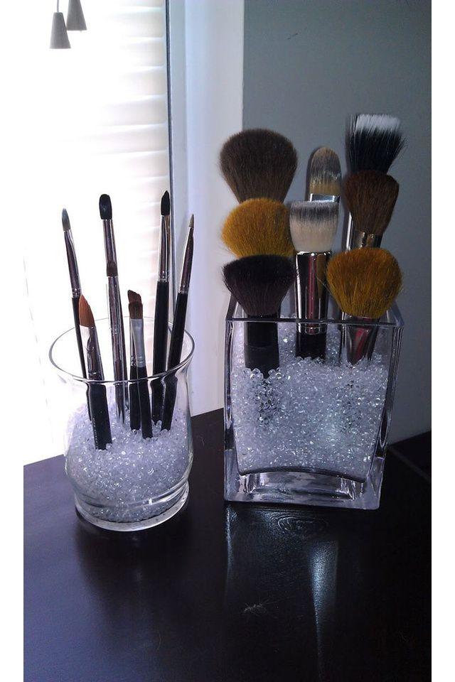 Des idées pour ranger son maquillage. Très jolies et très pratiqués!