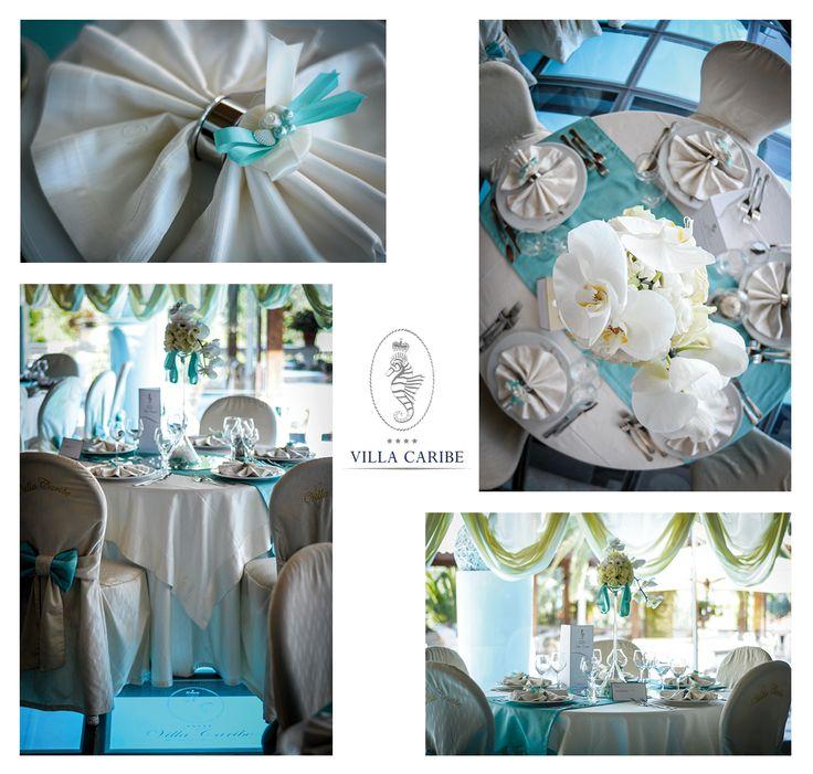Per un matrimonio Blu Tiffany  www.villacaribe.it/ #Wedding #Marriage #Sala #InstaWedding #Tiffany #Blu #Matrimonio