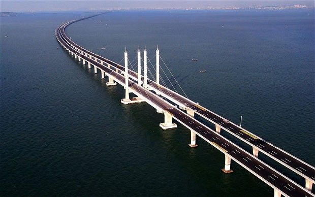 The highest, tallest, longest and oldest bridges in the world - Telegraph  26.4 mile long bridge in China